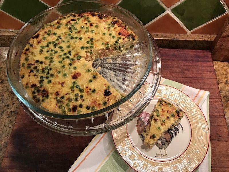 Pastel de salmón y quinoa