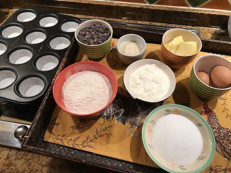 ingredientes para magdalenas de chocolate