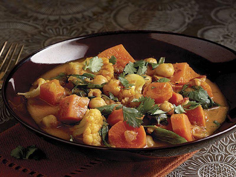 curry vegetariano de otoño