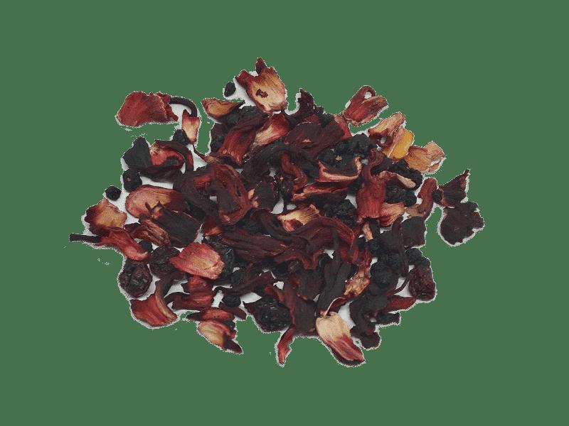 frutas y arandano rojo