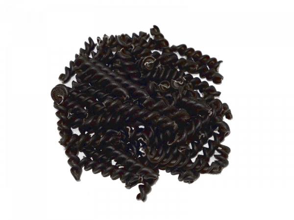 fusilli de lenteja caviar
